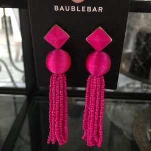 Baublebar Azura Beaded Tassel Earrings NWT